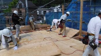 岩国市海土路町で上棟式   岩国市で新築一戸建てならネストハウス
