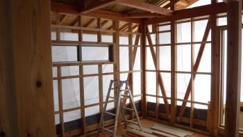 岩国市海土路町で新築施工中   岩国市で新築一戸建てならネストハウス